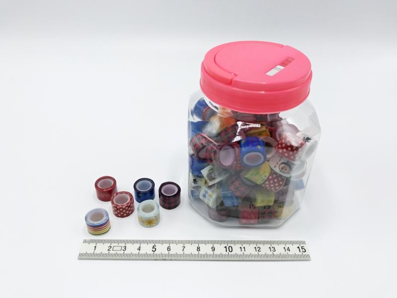Dekorační potřeby - Lepící páska barevná 12mm-1m PK71-56