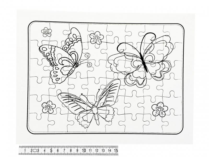 Hračky - Puzzle vykreslovací A4 PK160-2D