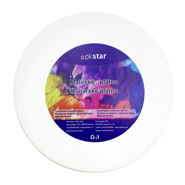 Malířské plátna-akrylové barvy - Plátno malířské kulaté 30cm PK53-21