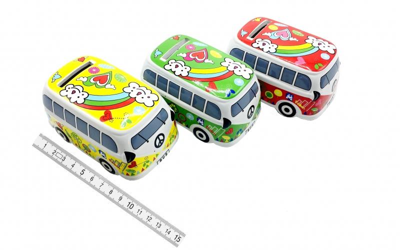 Pokladničky - Pokladnička keramická auto-11cm PK90-11